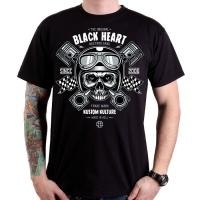 BLACK HEART SKULL PISTONS